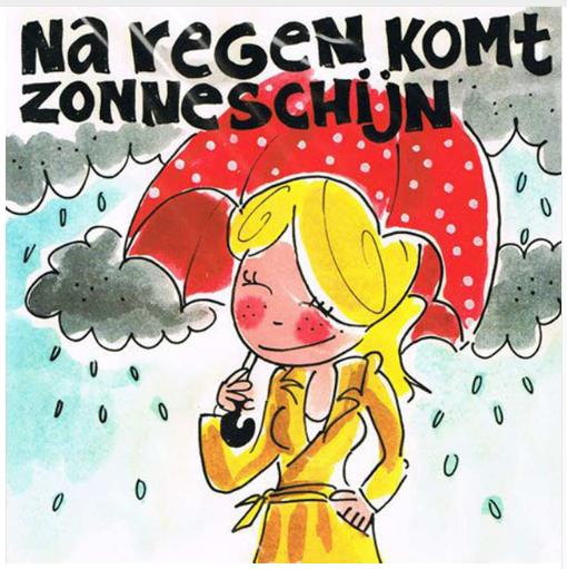 Blond Amsterdam Na Regen Komt Zonneschijn 3030 Cm Full Painting